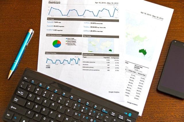 external link audit image including graph